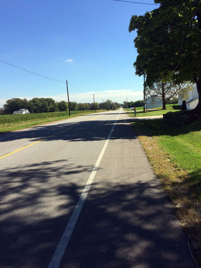 long road with gentle slope